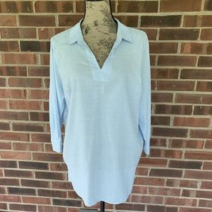 NWT Christopher Banks striped blouse